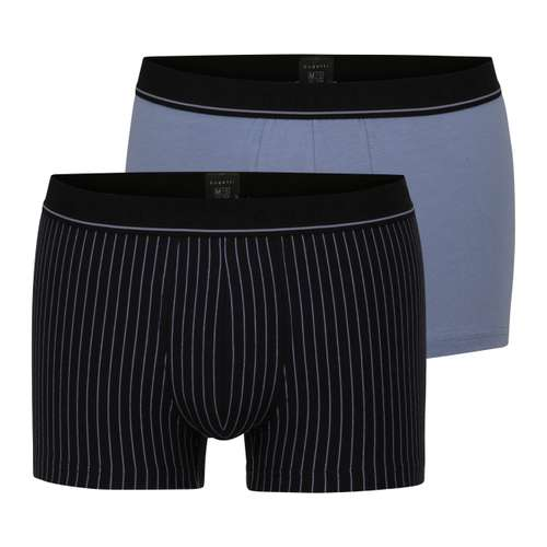 BUGATTI Herren Pants blau längsgestreift 2er Pack im 0° Winkel