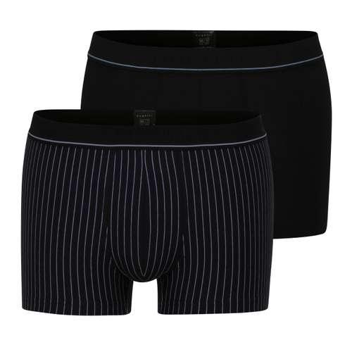 BUGATTI Herren Pants schwarz längsgestreift 2er Pack im 0° Winkel
