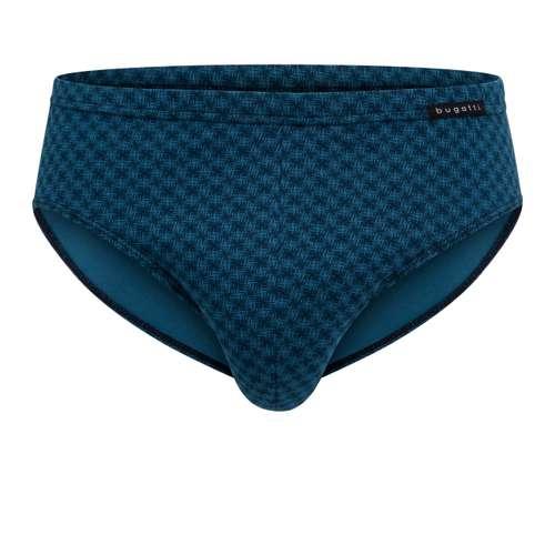 BUGATTI Herren Sport-Slip blau bedruckt 1er Pack im 0° Winkel
