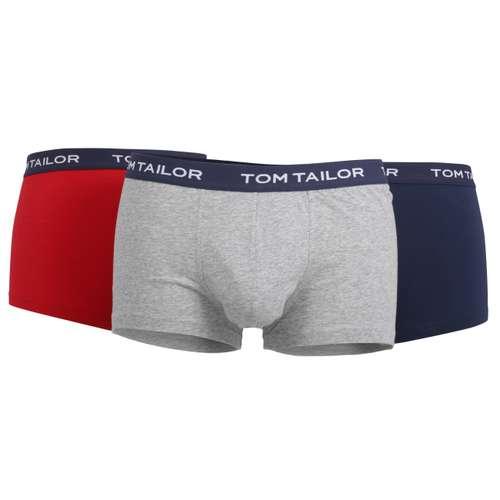TOM TAILOR Herren Pants rot melange 3er Pack im 0° Winkel
