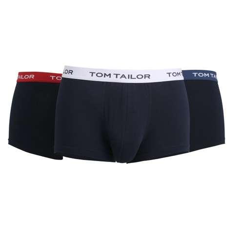 Bild von TOM TAILOR Herren Hip Pants blau melange 3er Pack 120° Ansicht