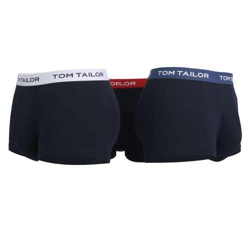 Bild von TOM TAILOR Herren Hip Pants blau melange 3er Pack 180° Ansicht