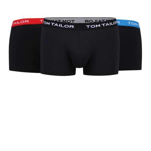 TOM TAILOR Herren Pants schwarz melange 3er Pack im 0° Winkel