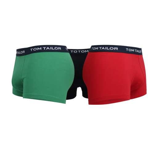 Bild von TOM TAILOR Herren Hip Pants rot melange 3er Pack 180° Ansicht