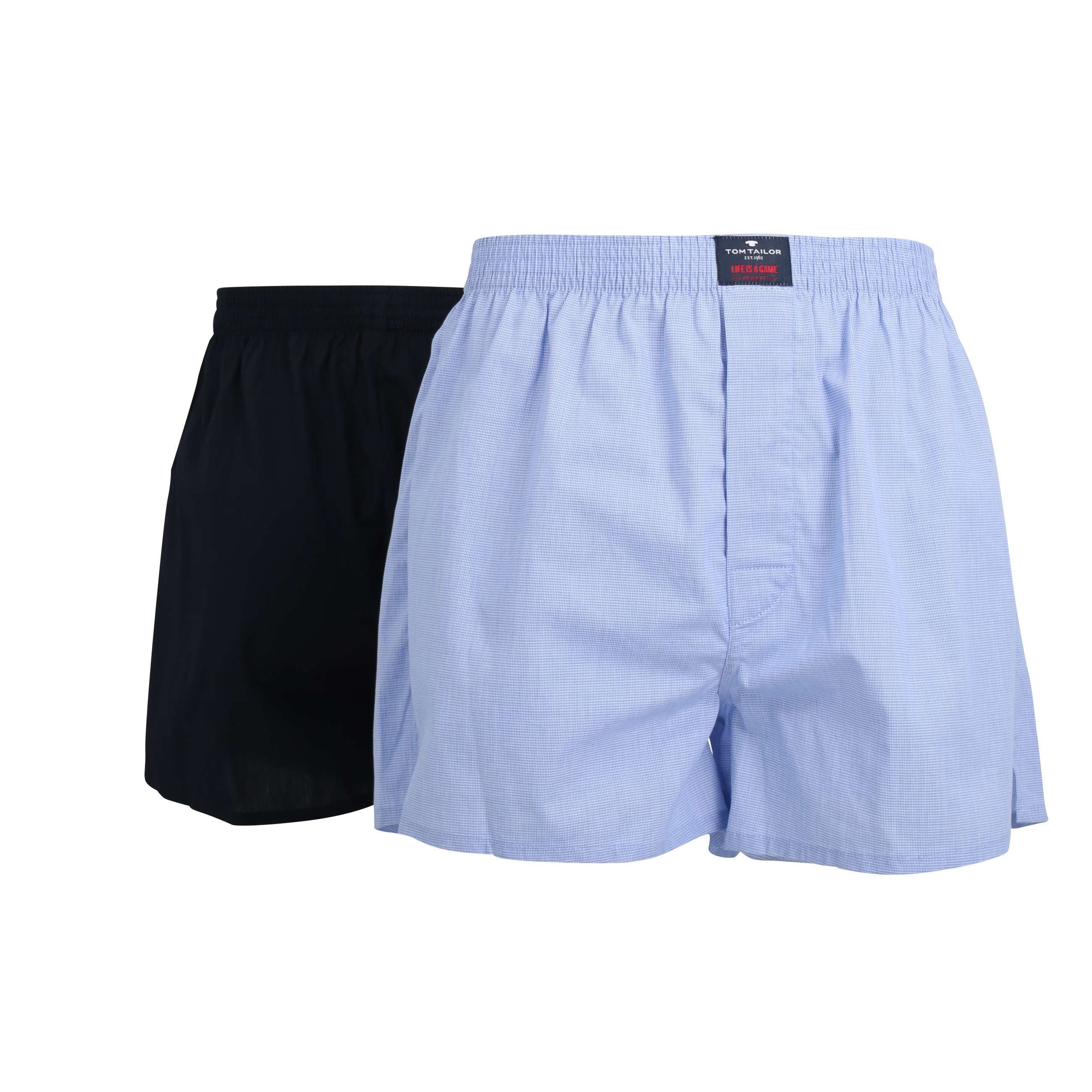 tom tailor herren boxer short blau kariert 2er pack set. Black Bedroom Furniture Sets. Home Design Ideas