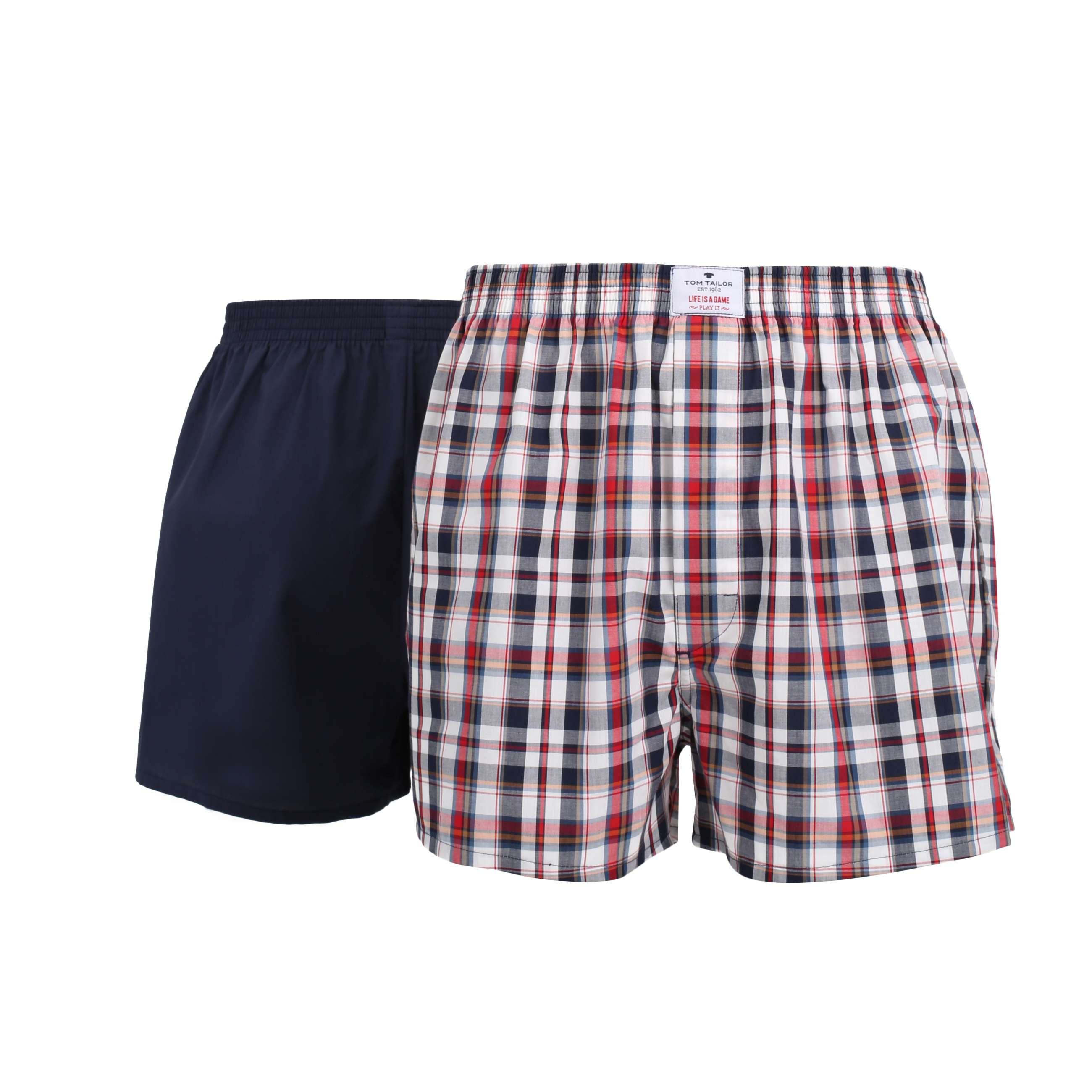 tom tailor herren boxershort rot kariert 2er pack set. Black Bedroom Furniture Sets. Home Design Ideas