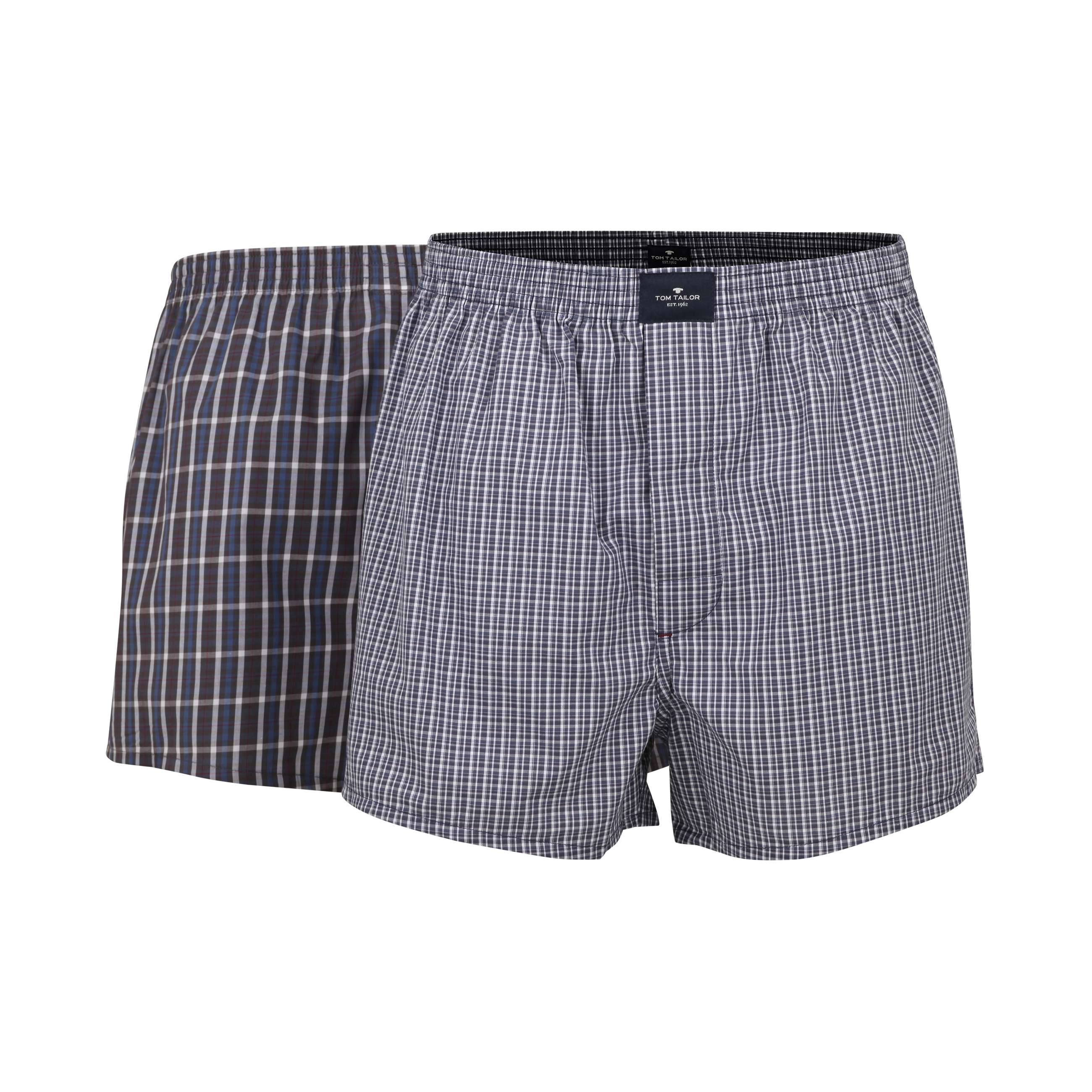 tom tailor herren boxershort blau kariert 2er pack set. Black Bedroom Furniture Sets. Home Design Ideas