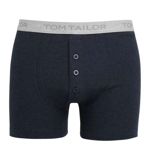 TOM TAILOR Herren Long-Pants blau melange 1er Pack im 0° Winkel