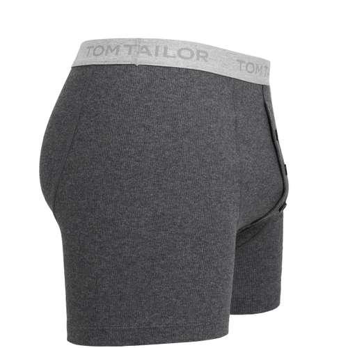 Bild von TOM TAILOR Herren Long-Pants grau melange 1er Pack 290° Ansicht