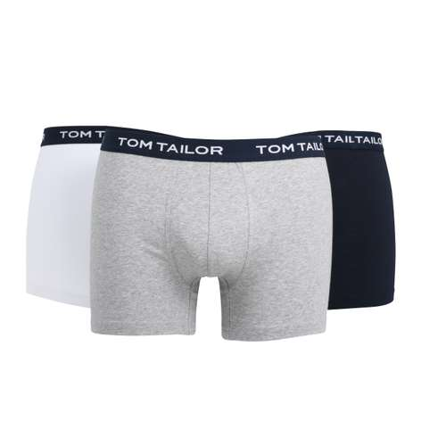 TOM TAILOR Herren Long-Pants blau uni 3er Pack im 0° Winkel