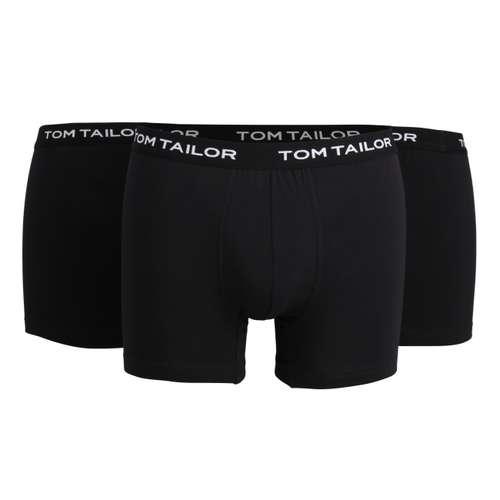 TOM TAILOR Herren Long-Pants schwarz uni 3er Pack im 0° Winkel
