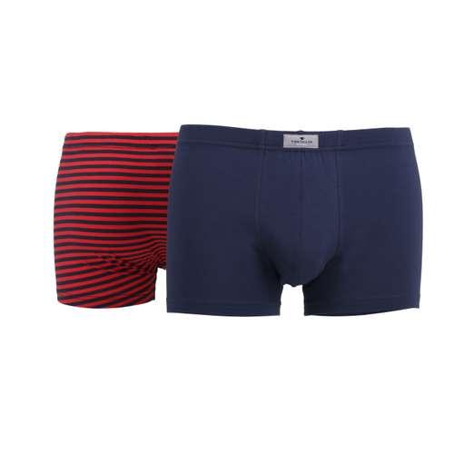 Bild von TOM TAILOR Herren Pants rot quergestreift 2er Pack 180° Ansicht