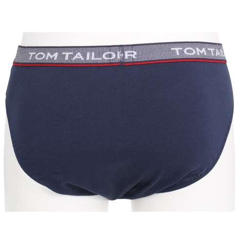 Bild von TOM TAILOR Herren Mini-Slip blau uni 1er Pack 180° Ansicht