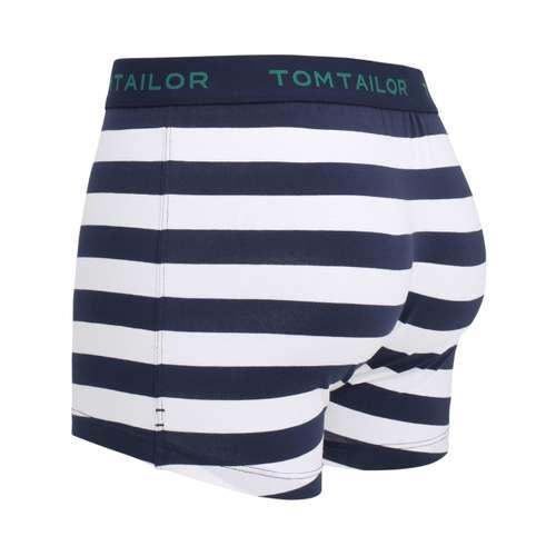 Bild von TOM TAILOR Herren Pants blau quergestreift 1er Pack 120° Ansicht
