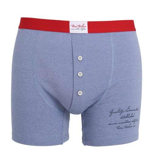 TOM TAILOR Herren Long-Pants blau Struktur 1er Pack im 0° Winkel