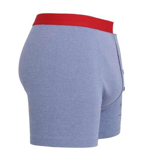 Bild von TOM TAILOR Herren Long-Pants blau Struktur 1er Pack 290° Ansicht