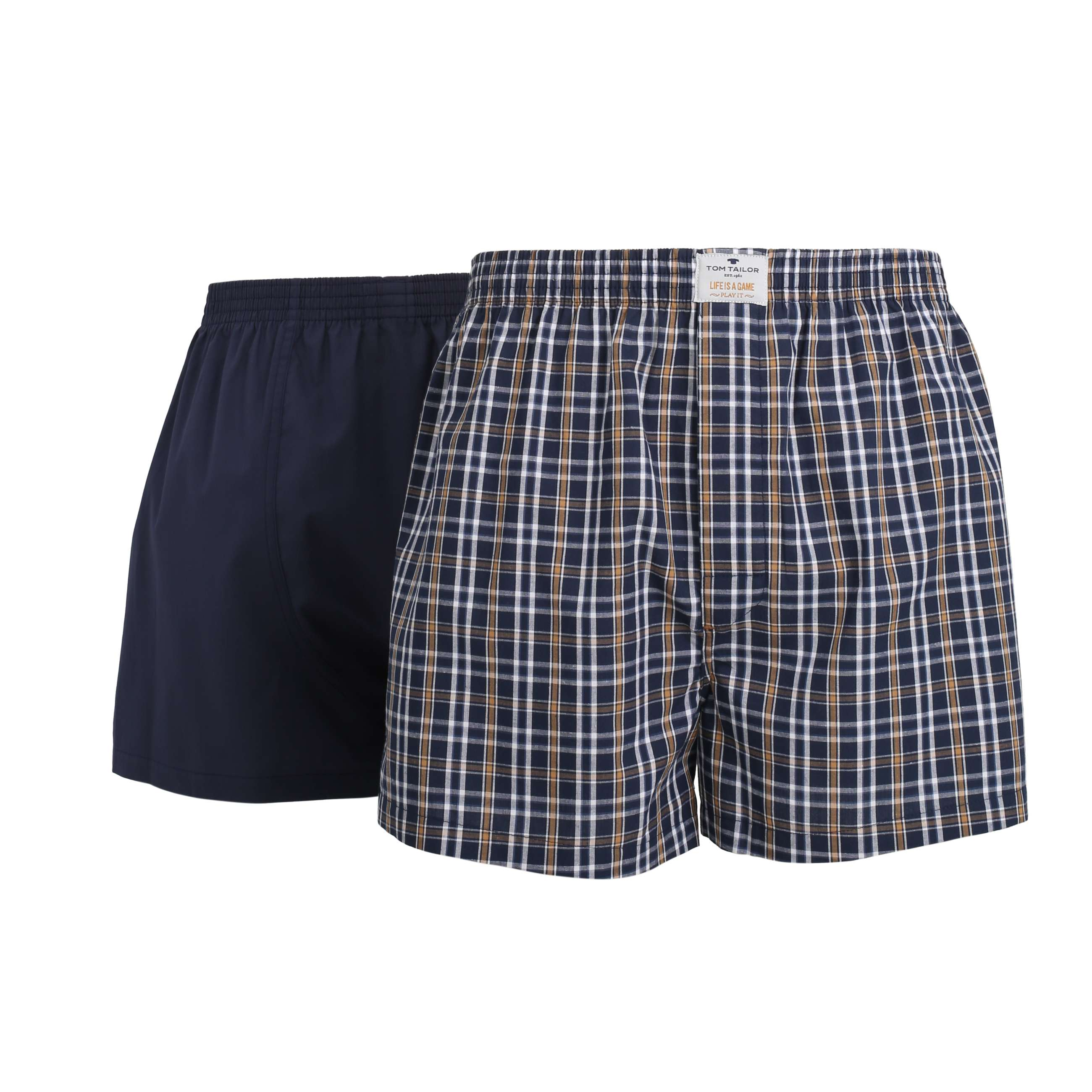 tom tailor herren boxershort unterhose kariert 2er pack. Black Bedroom Furniture Sets. Home Design Ideas