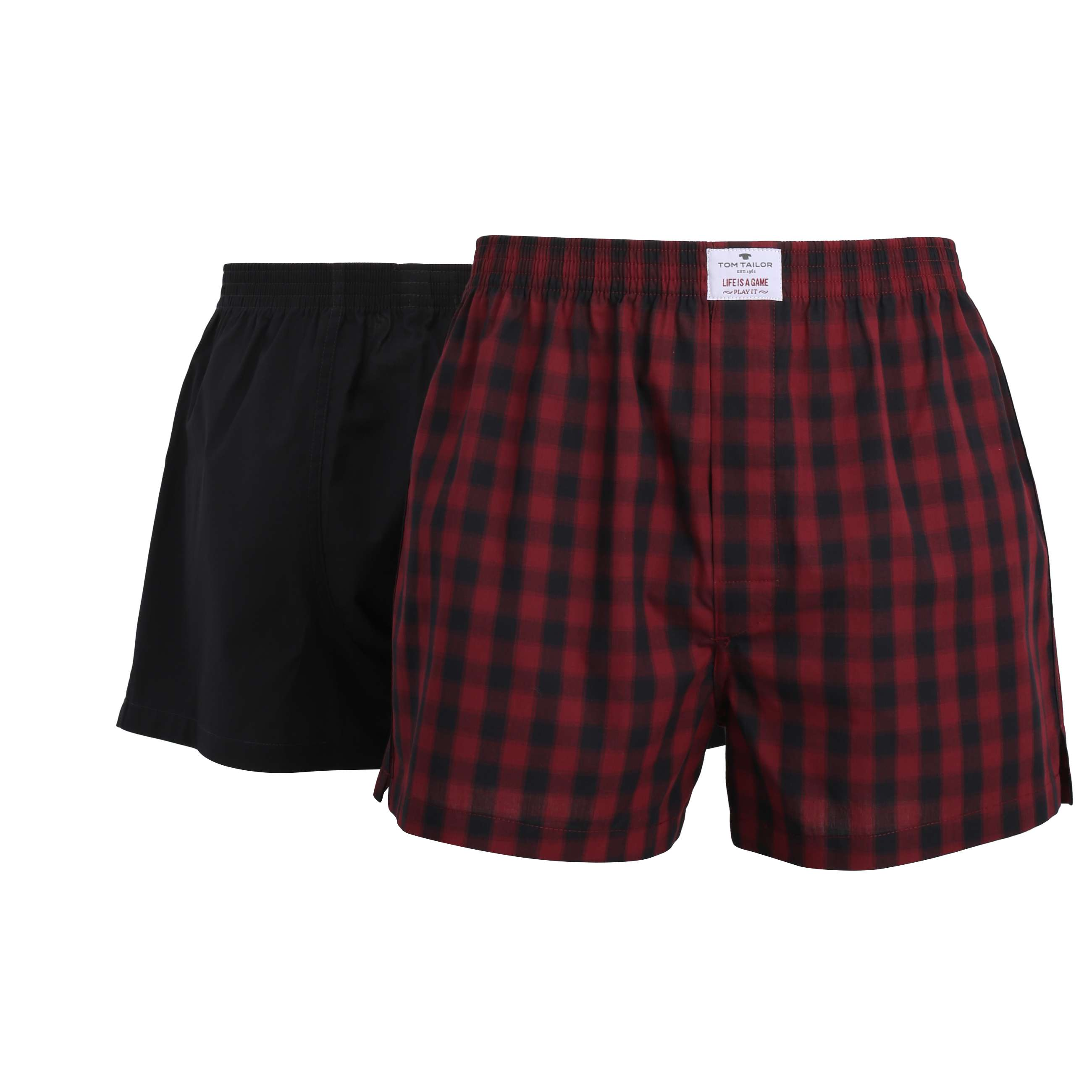 tom tailor herren boxershort unterhose rot 2er pack. Black Bedroom Furniture Sets. Home Design Ideas