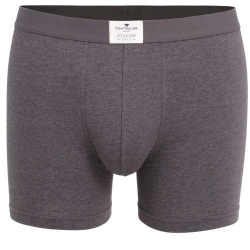 TOM TAILOR Herren Long-Pants grau melange 1er Pack im 0° Winkel