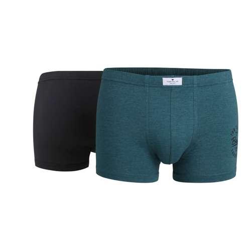 TOM TAILOR Herren Pants grün melange 2er Pack im 0° Winkel