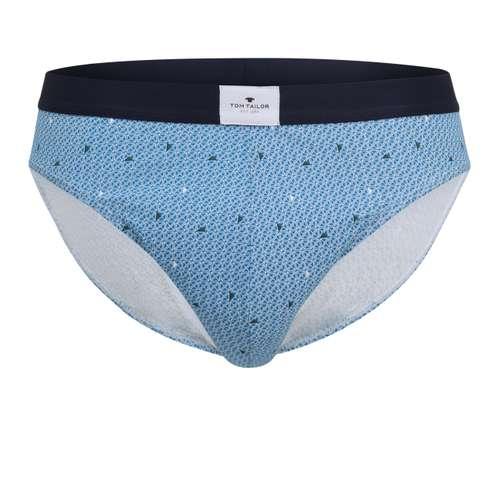 TOM TAILOR Herren Mini-Slip blau bedruckt 1er Pack im 0° Winkel