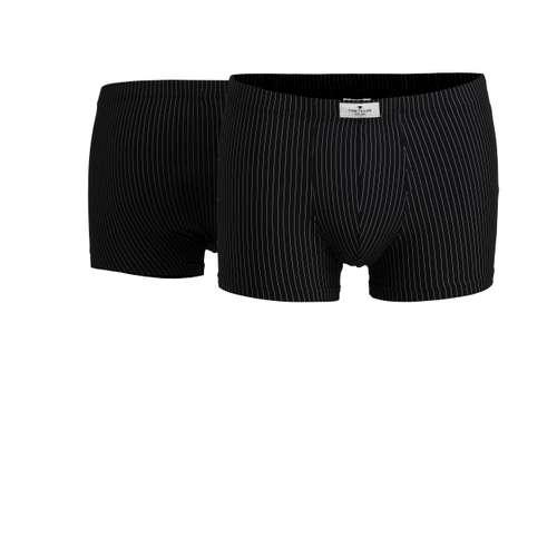 TOM TAILOR Herren Pants schwarz melange 2er Pack im 0° Winkel