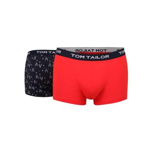 TOM TAILOR Herren Pants rot bedruckt 2er Pack im 0° Winkel