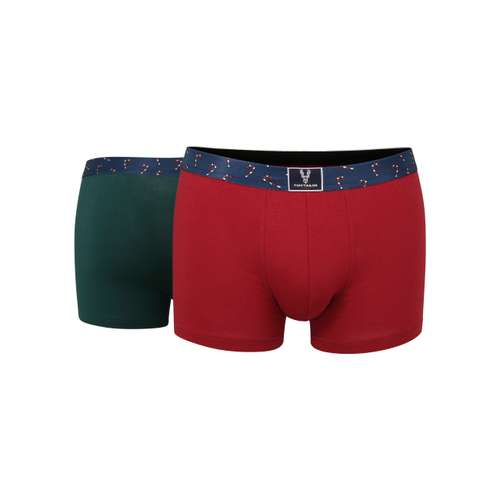 TOM TAILOR Herren Pants rot uni 2er Pack im 0° Winkel