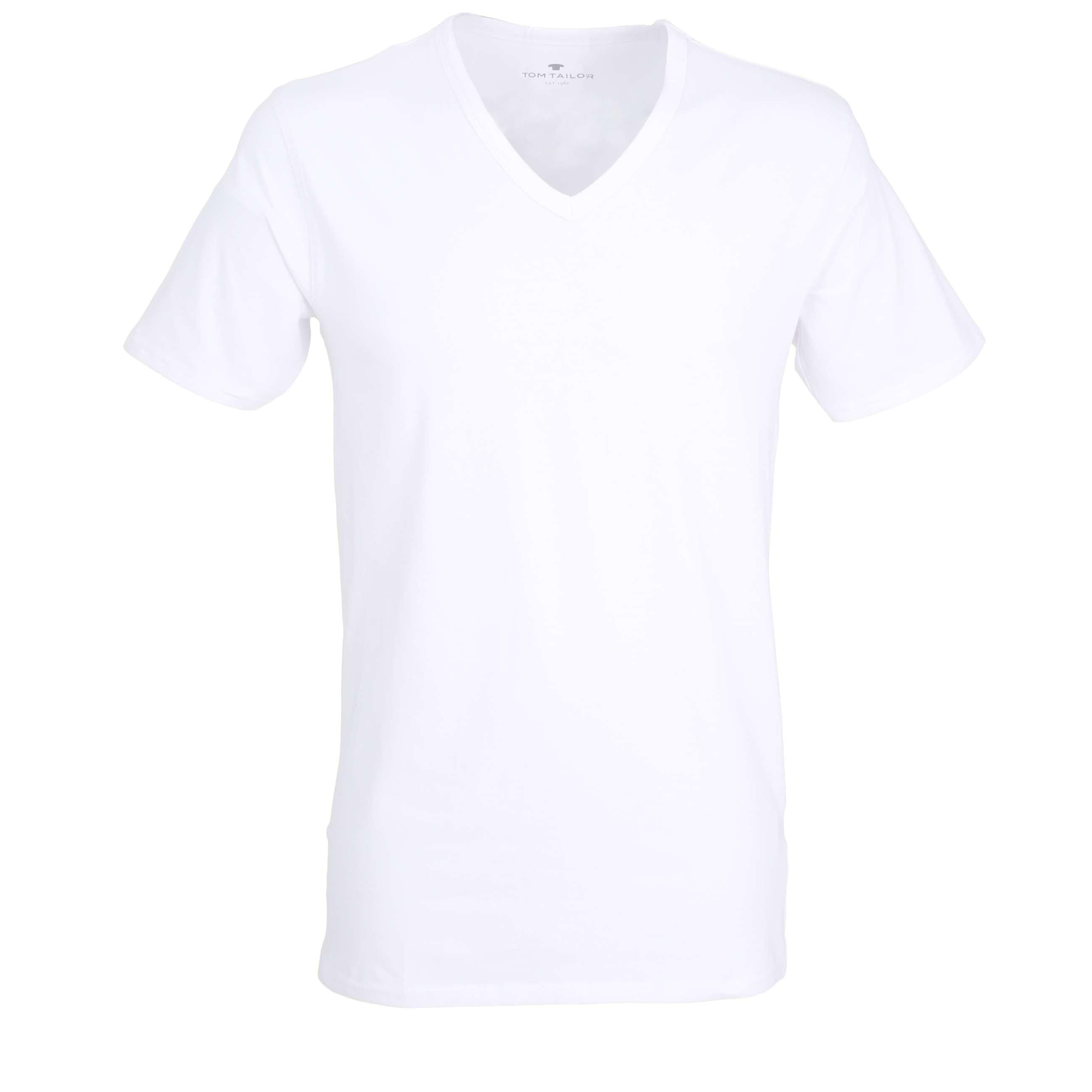 tom tailor herren t shirt freizeit shirt wei uni 2er set. Black Bedroom Furniture Sets. Home Design Ideas