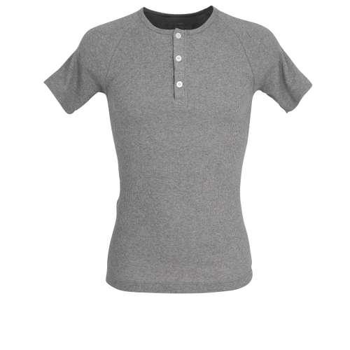 TOM TAILOR Herren Shirt grau melange 1er Pack im 0° Winkel