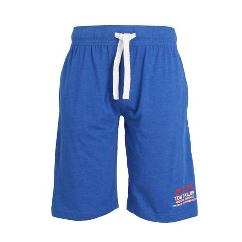 TOM TAILOR Herren Bermuda blau melange 1er Pack im 0° Winkel