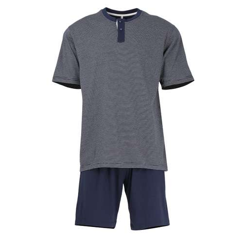 TOM TAILOR Herren Shorty blau quergestreift 1er Pack im 0° Winkel