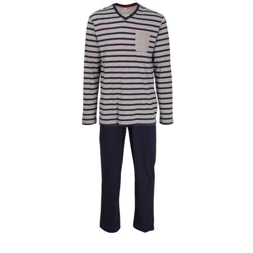 Bild von TOM TAILOR Herren Pyjama blau quergestreift 1er Pack 0° Ansicht