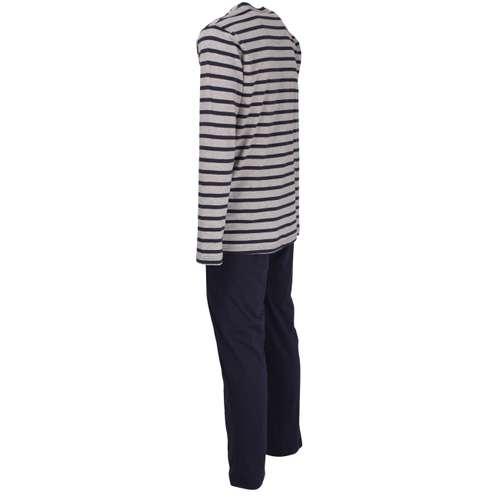 Bild von TOM TAILOR Herren Pyjama blau quergestreift 1er Pack 120° Ansicht