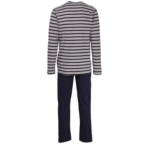 Bild von TOM TAILOR Herren Pyjama blau quergestreift 1er Pack 180° Ansicht