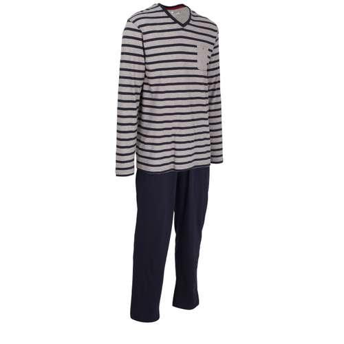 Bild von TOM TAILOR Herren Pyjama blau quergestreift 1er Pack 330° Ansicht