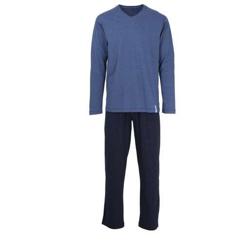Bild von TOM TAILOR Herren Pyjama blau melange 1er Pack 0° Ansicht
