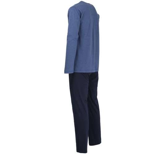 Bild von TOM TAILOR Herren Pyjama blau melange 1er Pack 120° Ansicht