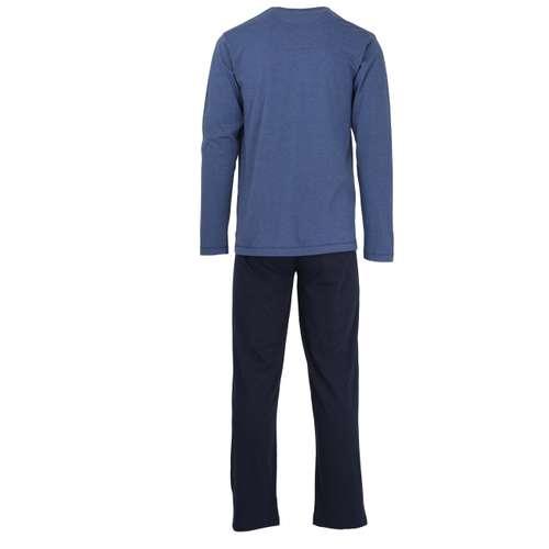 Bild von TOM TAILOR Herren Pyjama blau melange 1er Pack 180° Ansicht