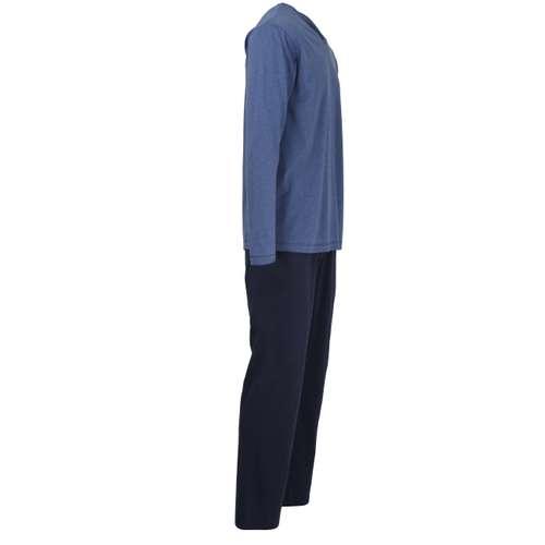 Bild von TOM TAILOR Herren Pyjama blau melange 1er Pack 290° Ansicht