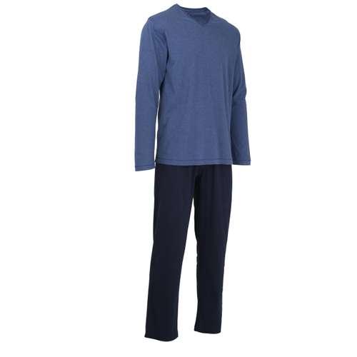 Bild von TOM TAILOR Herren Pyjama blau melange 1er Pack 330° Ansicht