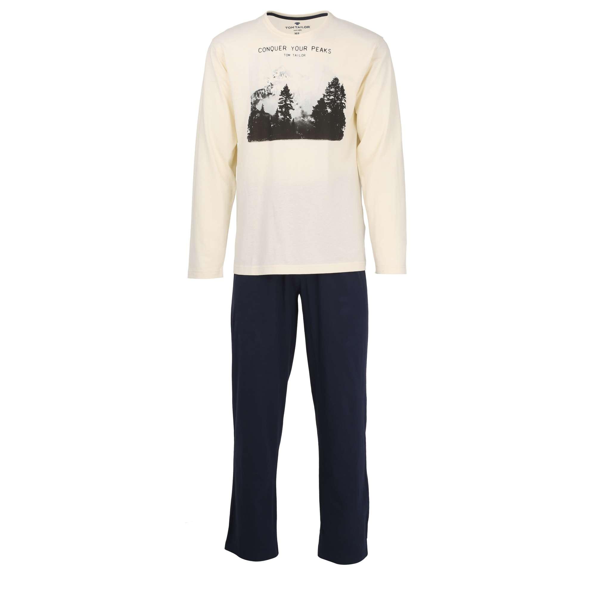 Super Rabatt vollständig in den Spezifikationen 2018 Schuhe TOM TAILOR Herren Pyjama weiß Motivprint 1er Pack jetzt kaufen