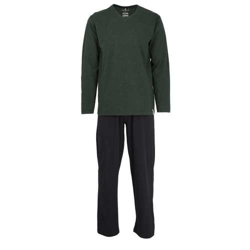 TOM TAILOR Herren Pyjama grün melange 1er Pack im 0° Winkel