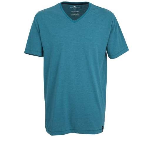 TOM TAILOR Herren Shirt grün melange 1er Pack im 0° Winkel