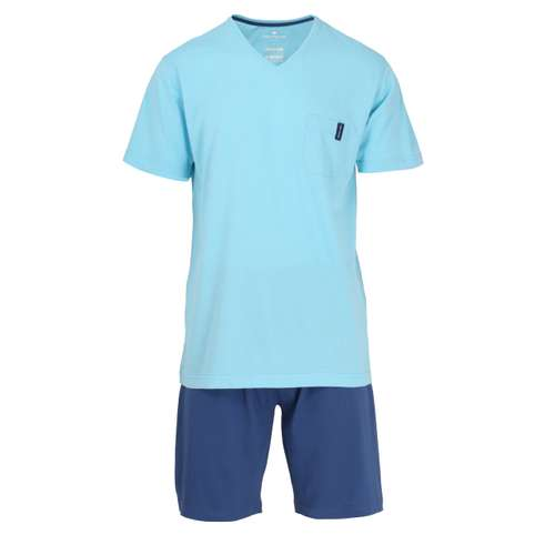 TOM TAILOR Herren Shorty blau melange 1er Pack im 0° Winkel