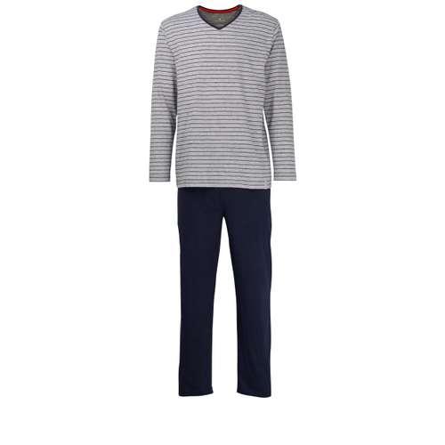 TOM TAILOR Herren Pyjama weiß quergestreift 1er Pack im 0° Winkel
