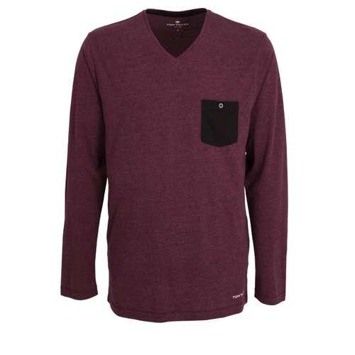 TOM TAILOR Herren Shirt lila melange 1er Pack im 0° Winkel