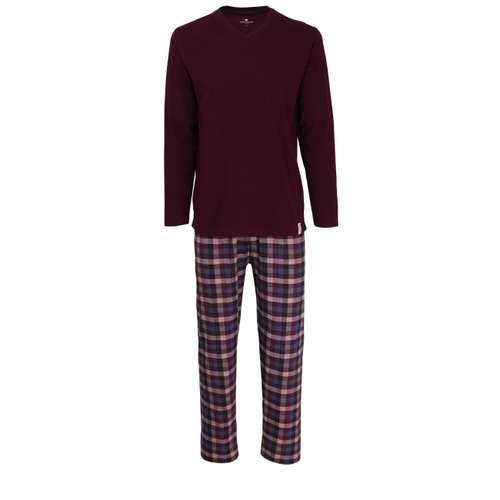 TOM TAILOR Herren Pyjama lila kariert 1er Pack im 0° Winkel