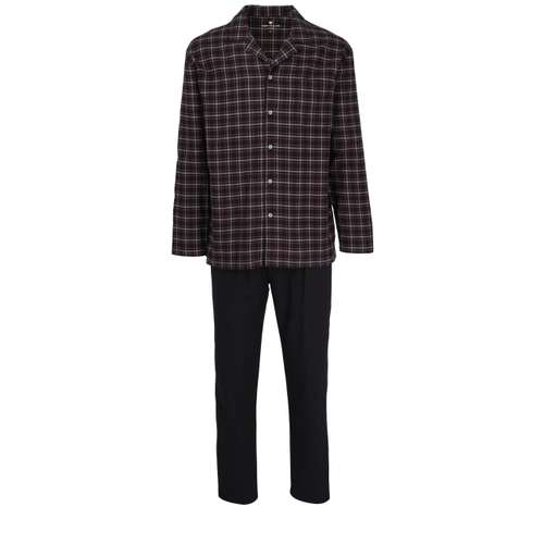 TOM TAILOR Herren Pyjama schwarz kariert 1er Pack im 0° Winkel