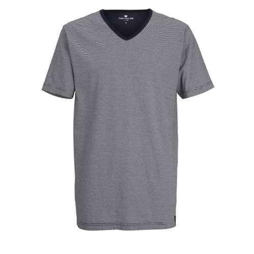 TOM TAILOR Herren T-Shirt blau quergestreift 1er Pack im 0° Winkel